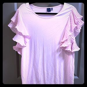 (3/$20) Blush Ruffle Sleeve Casual Top